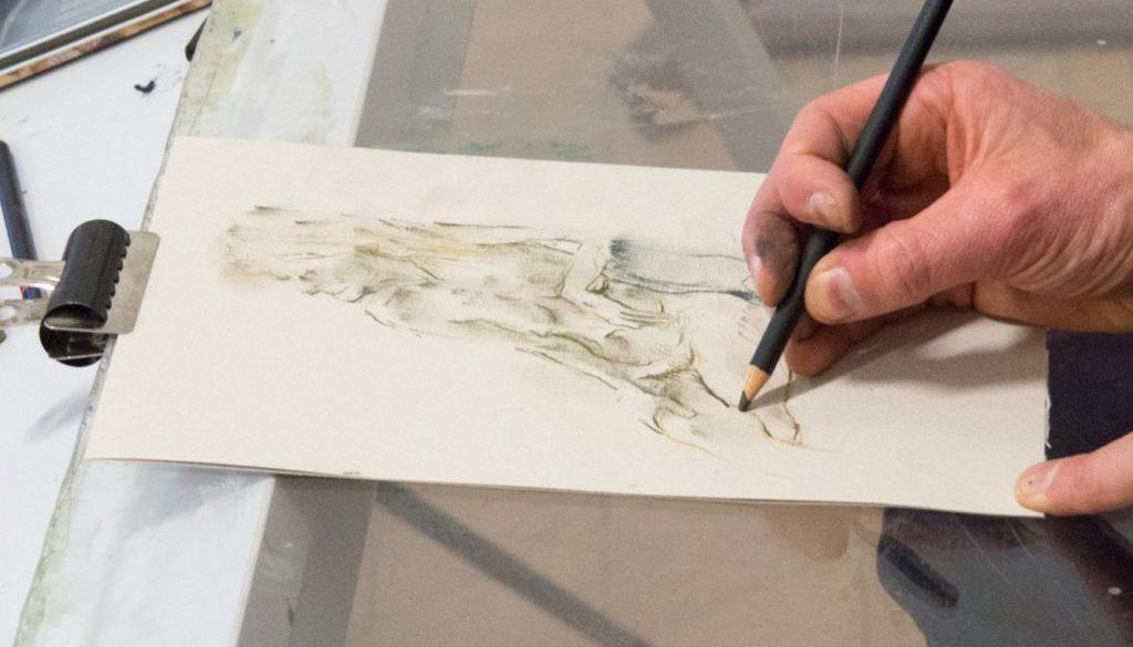 dessin en cours de réalisation