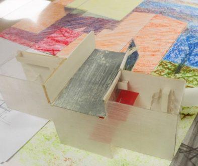 photo d'une maquette en construction